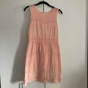 Coral and ivory sundress